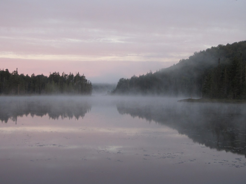 Morning mist on Pillsbury Lake
