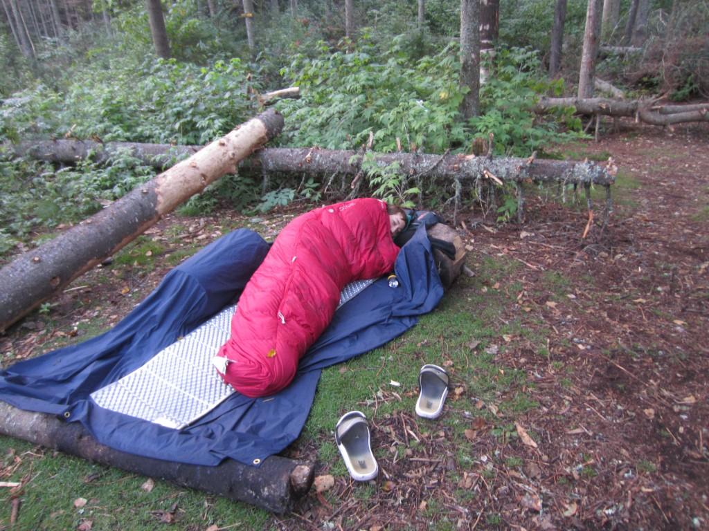 Micah cowboy camping like a boss