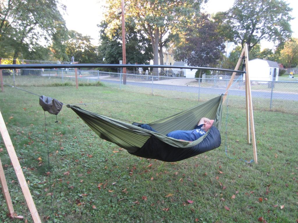 Relaxing in my Warbonnet Traveler