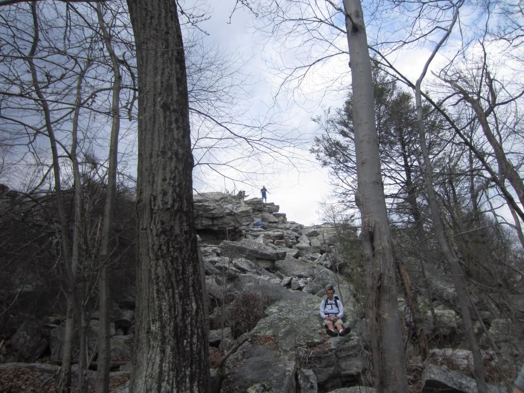 Climb up to Bear Rocks