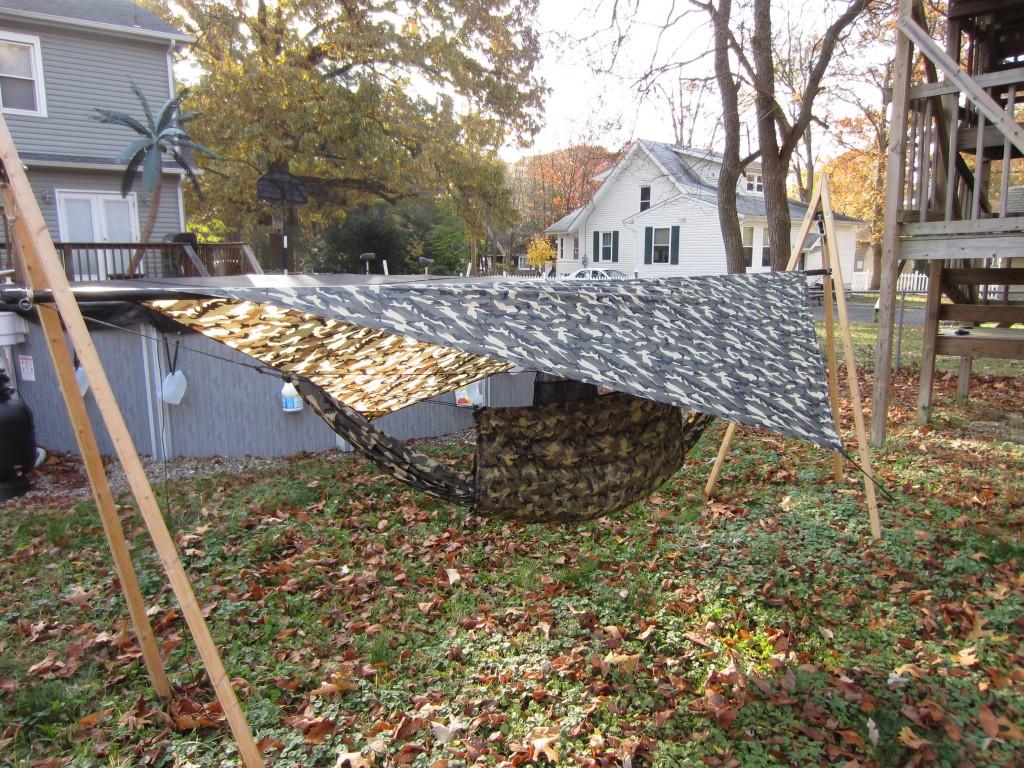100% DIY camo hammock rig