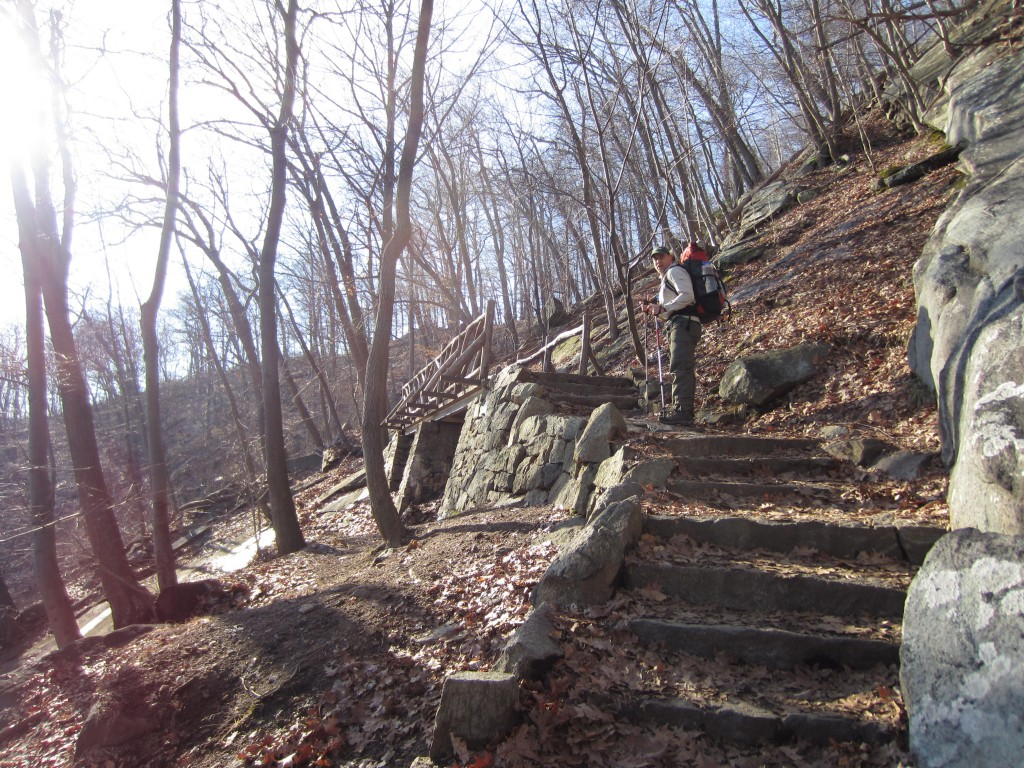 Stone steps on Bear Mountain