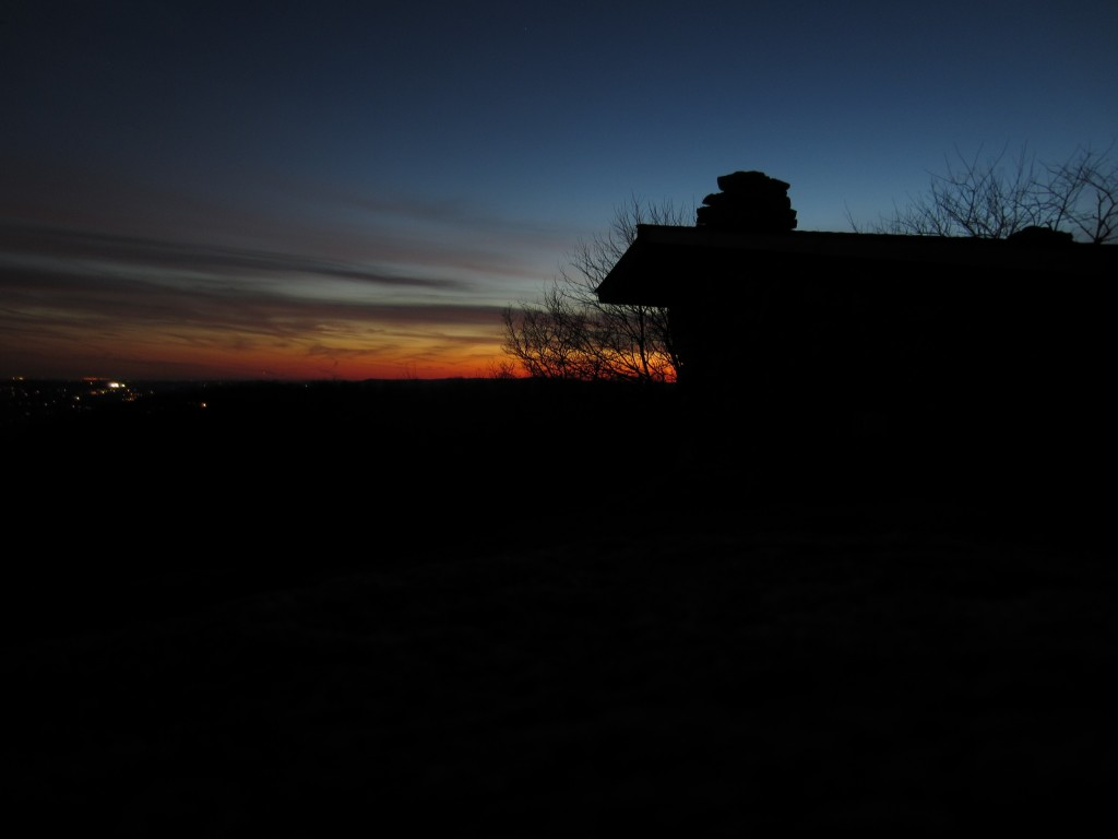 Dusk at West Mountain Shelter