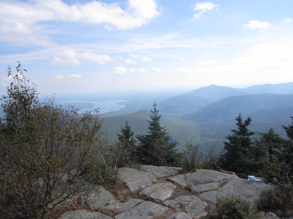 Ashokan Reservoir from the summit of Whittenberg, 4180 feet